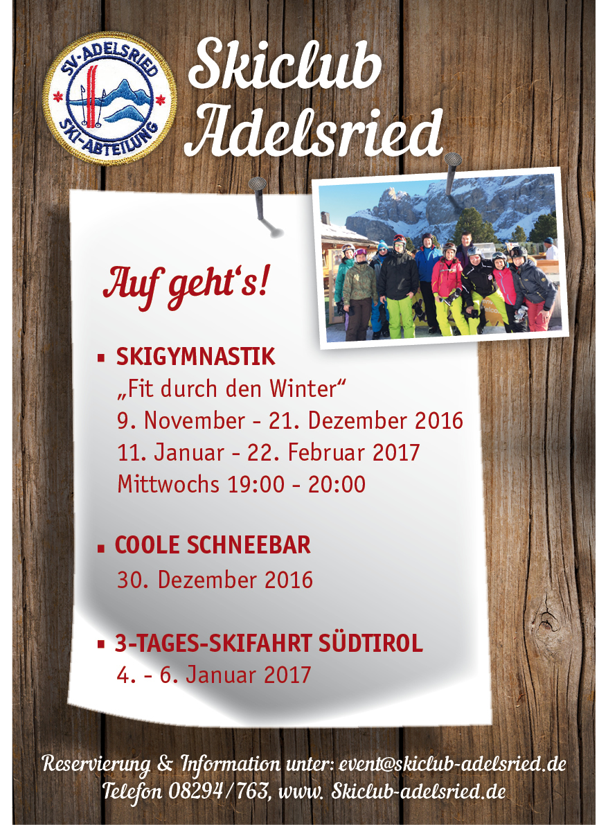 Skiclub Adelsried 2016/2017