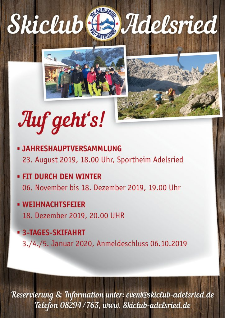 Skiclub Adelsried Termine